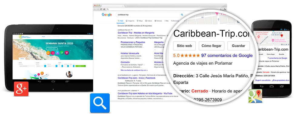 Google para empresas mi pagina web en google maps